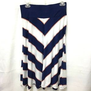 Old Navy A Line Pull On Striped Skirt, Small